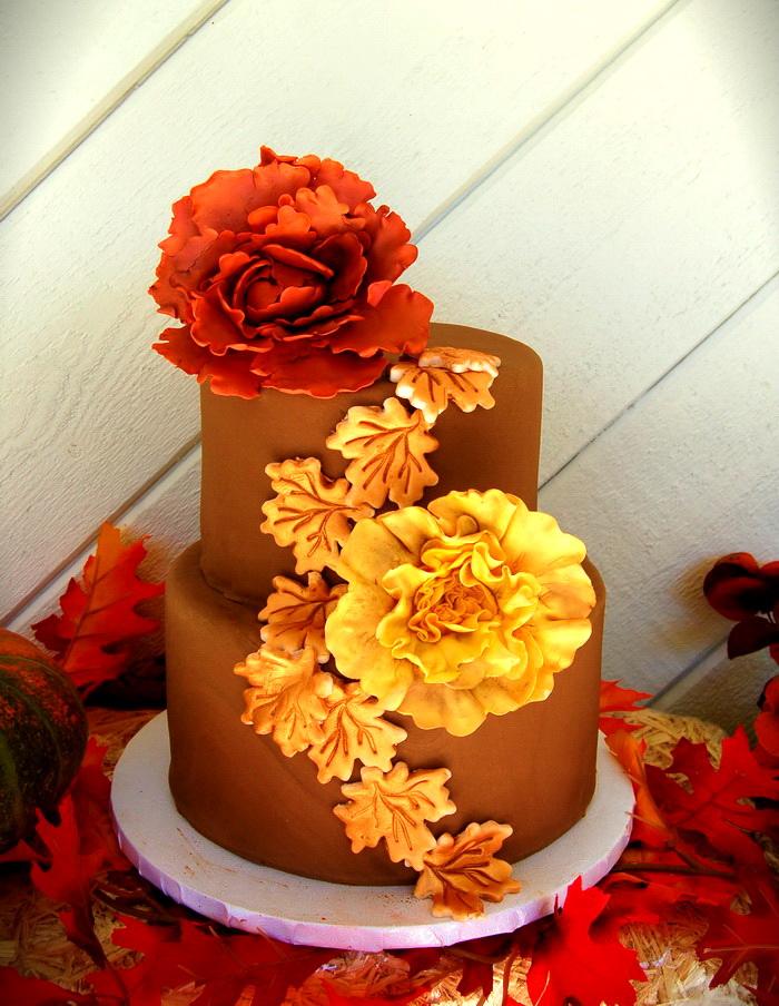 Красивые фото свадебного торта в осеннем стиле (28)