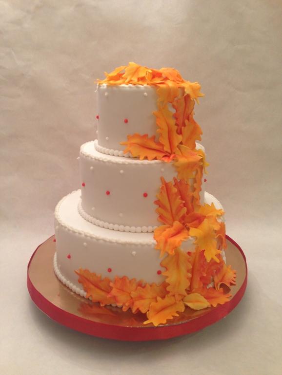 Красивые фото свадебного торта в осеннем стиле (29)