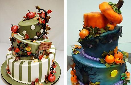 Красивые фото свадебного торта в осеннем стиле (3)