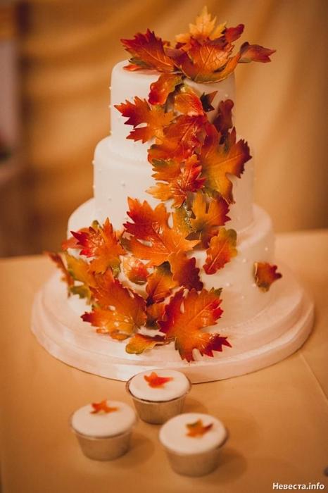 Красивые фото свадебного торта в осеннем стиле (30)