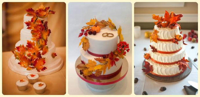Красивые фото свадебного торта в осеннем стиле (5)