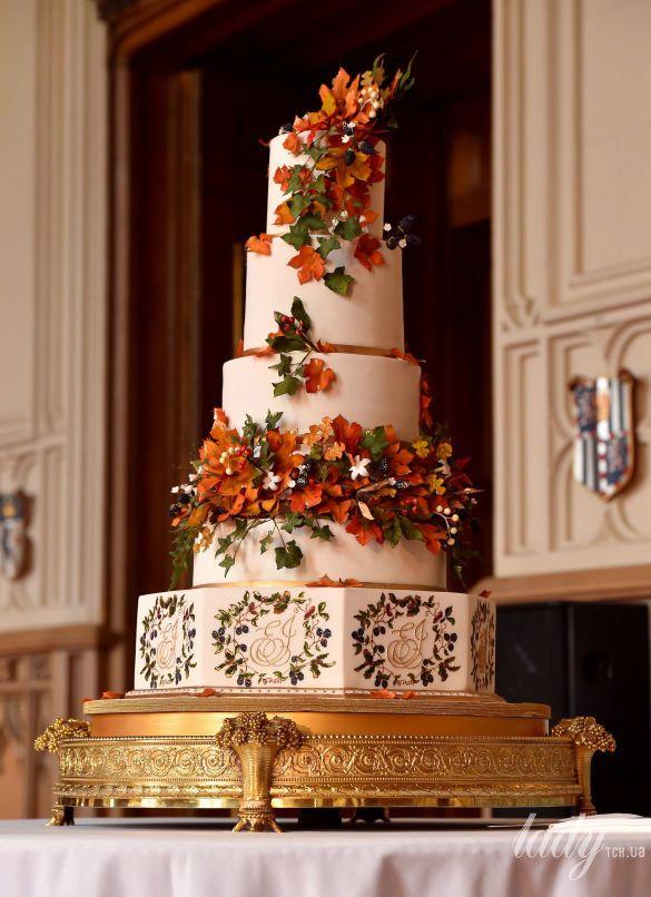 Красивые фото свадебного торта в осеннем стиле (6)