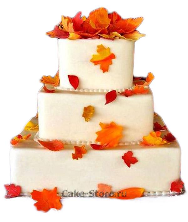 Красивые фото свадебного торта в осеннем стиле (8)