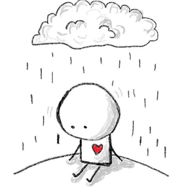 Красивые черно-белые рисунки про грусть001
