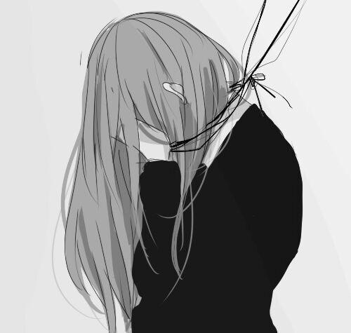 Красивые черно-белые рисунки про грусть011