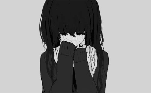 Красивые черно-белые рисунки про грусть012
