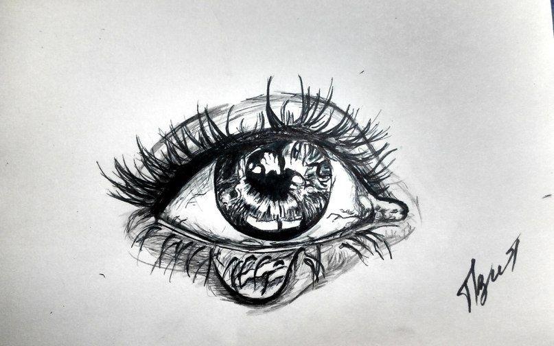 Красивые черно-белые рисунки про грусть013