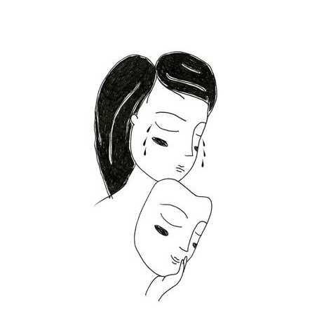 Красивые черно-белые рисунки про грусть015