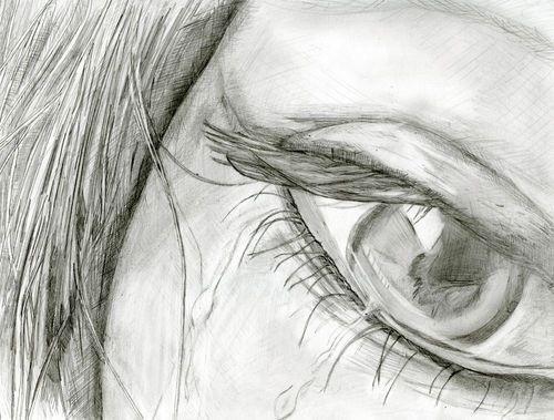 Красивые черно-белые рисунки про грусть024