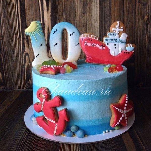 Красивый торт с рисунком самолета016