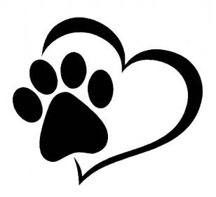 Красивый трафарет лапки собаки (10)