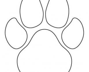 Красивый трафарет лапки собаки (11)