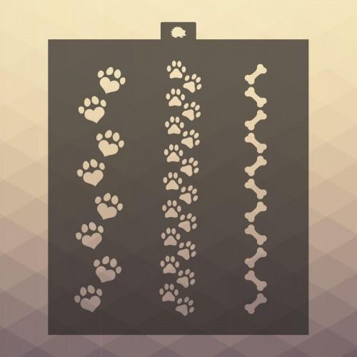 Красивый трафарет лапки собаки (12)