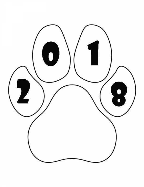 Красивый трафарет лапки собаки (16)
