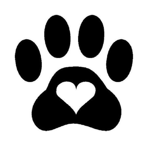 Красивый трафарет лапки собаки (17)