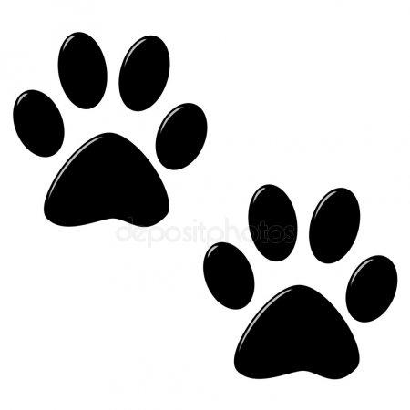 Красивый трафарет лапки собаки (4)