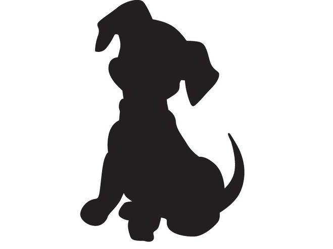 Красивый трафарет лапки собаки (5)