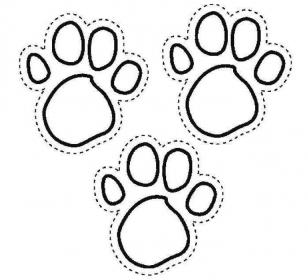 Красивый трафарет лапки собаки (8)
