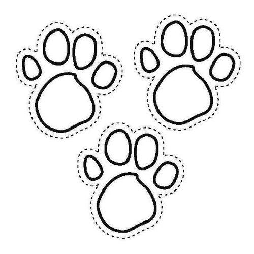 Красивый трафарет лапки собаки (9)