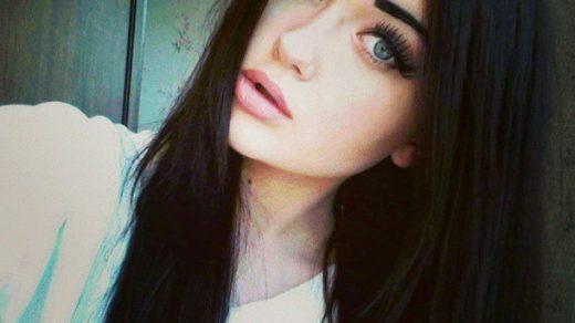 Красивыке картинки на аву девушек с черными волосами без лица (1)