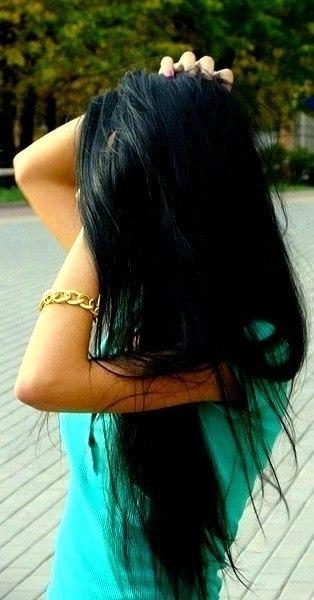 Красивыке картинки на аву девушек с черными волосами без лица (13)