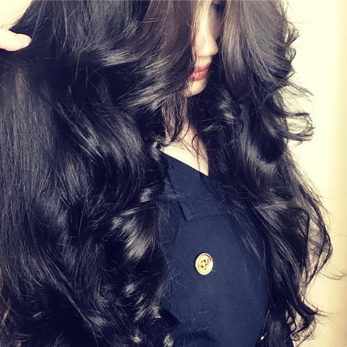 Красивыке картинки на аву девушек с черными волосами без лица (25)