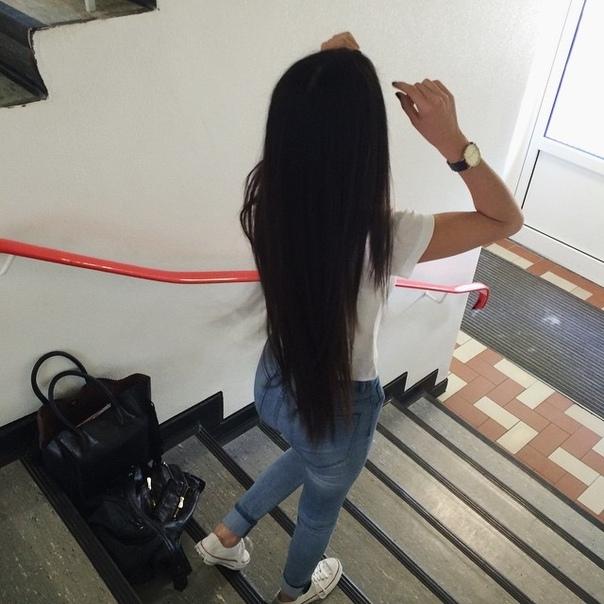 Красивыке картинки на аву девушек с черными волосами без лица (27)