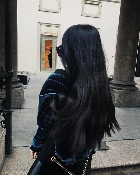 Красивыке картинки на аву девушек с черными волосами без лица (29)