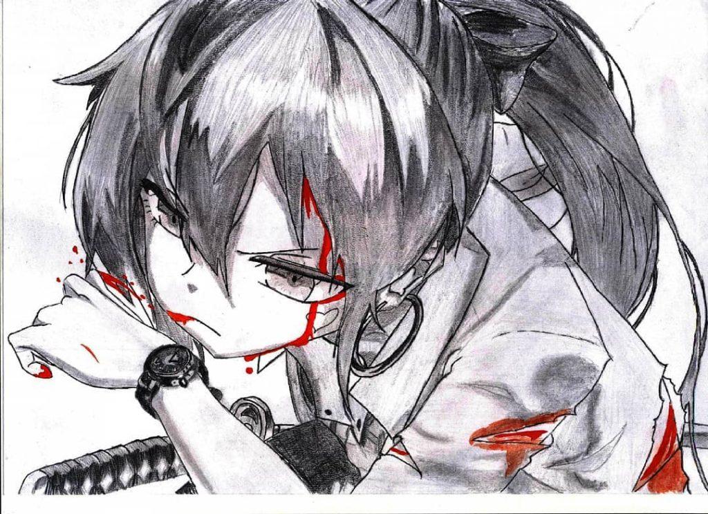 Кровавый аниме арт - лучшие изображения (10)