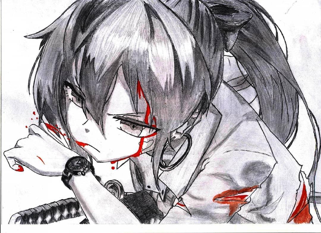 Кровавый аниме арт   лучшие изображения (10)