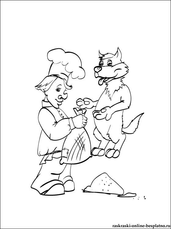 Кузнец раскраска для детей (12)