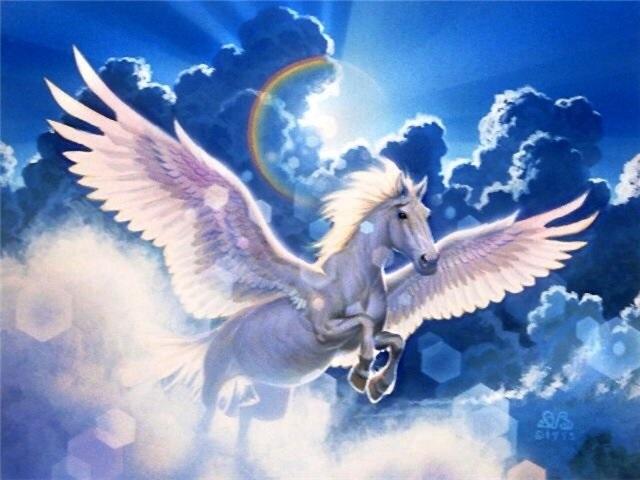 Лошади картинки волшебные008
