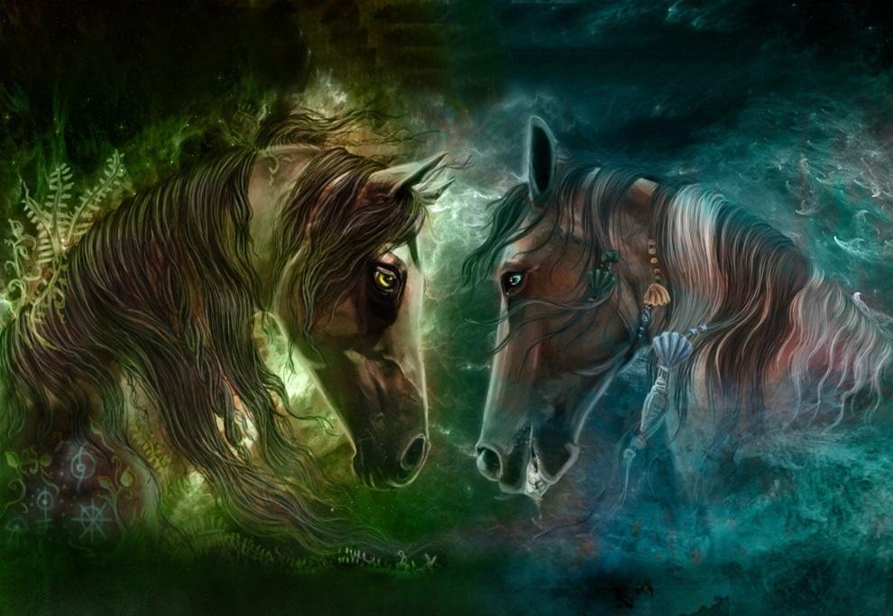 Лошади картинки волшебные012