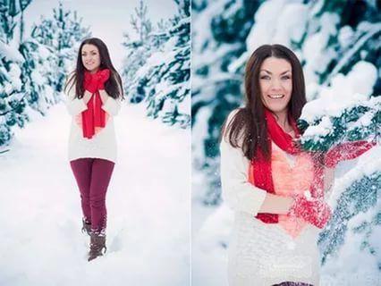 Лучшие позы для фотосессии зимой на улице - 35 фото (20)