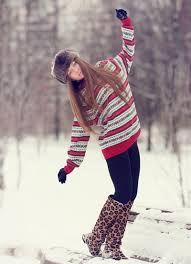 Лучшие позы для фотосессии зимой на улице - 35 фото (23)
