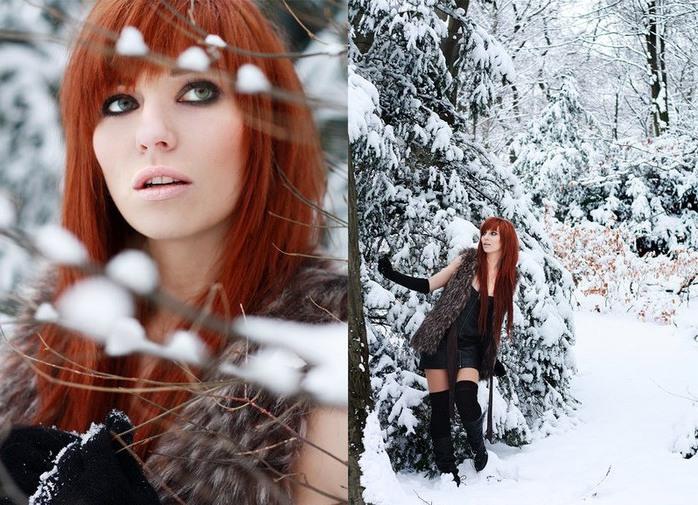 Лучшие позы для фотосессии зимой на улице - 35 фото (30)