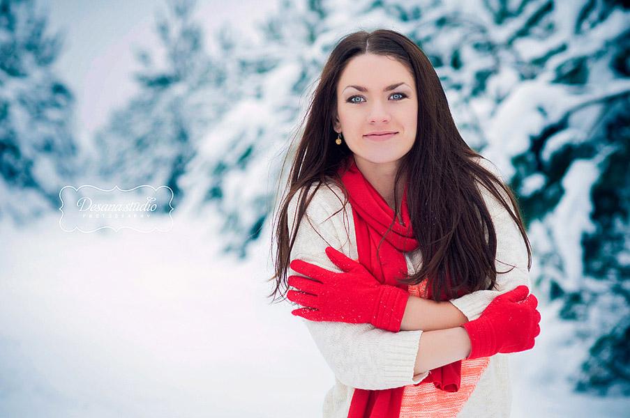 Лучшие позы для фотосессии зимой на улице - 35 фото (31)