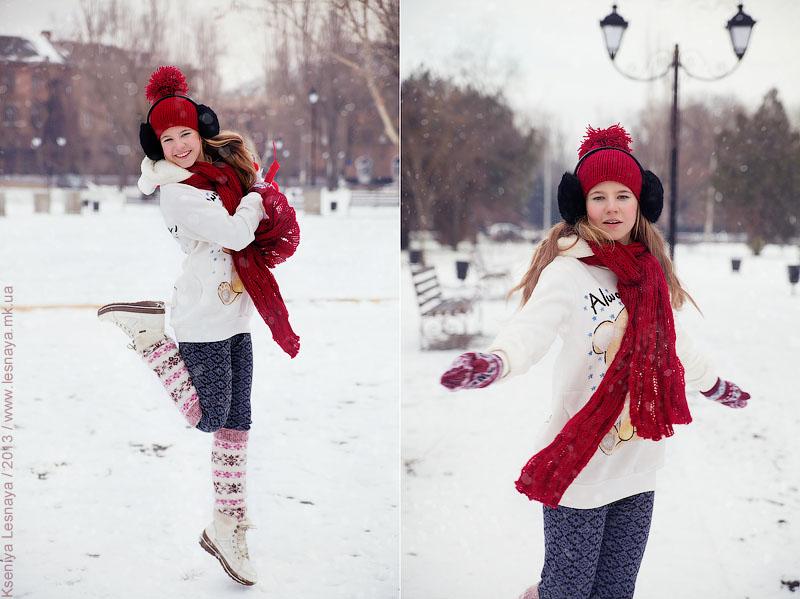 Лучшие позы для фотосессии зимой на улице - 35 фото (34)