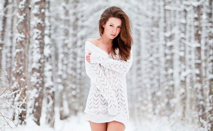 Лучшие позы для фотосессии зимой на улице - 35 фото (4)