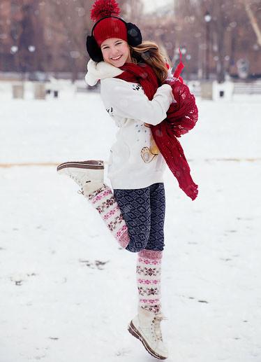 Лучшие позы для фотосессии зимой на улице - 35 фото (9)