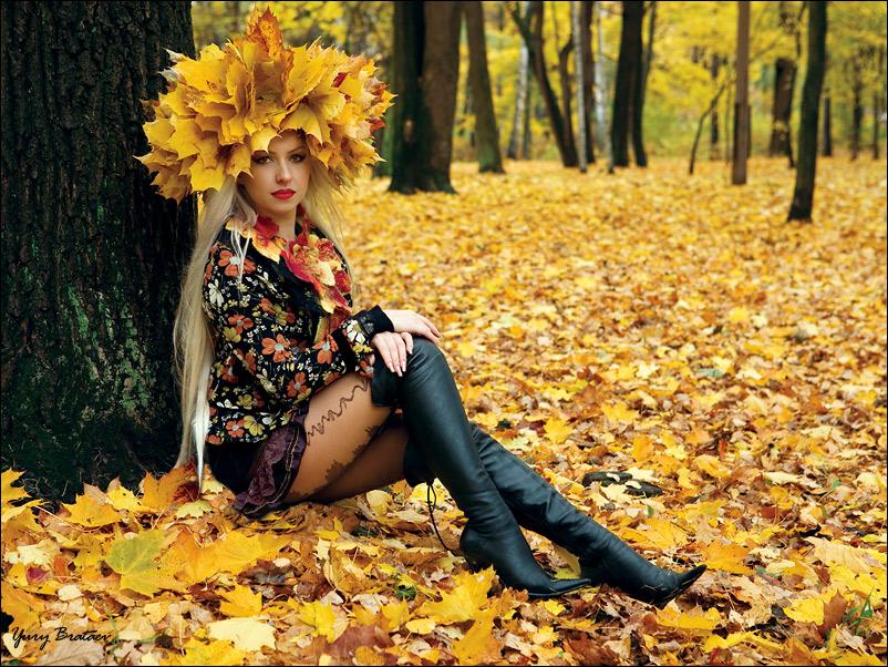 Лучшие фото на аву девушек со спины осень на аву (14)