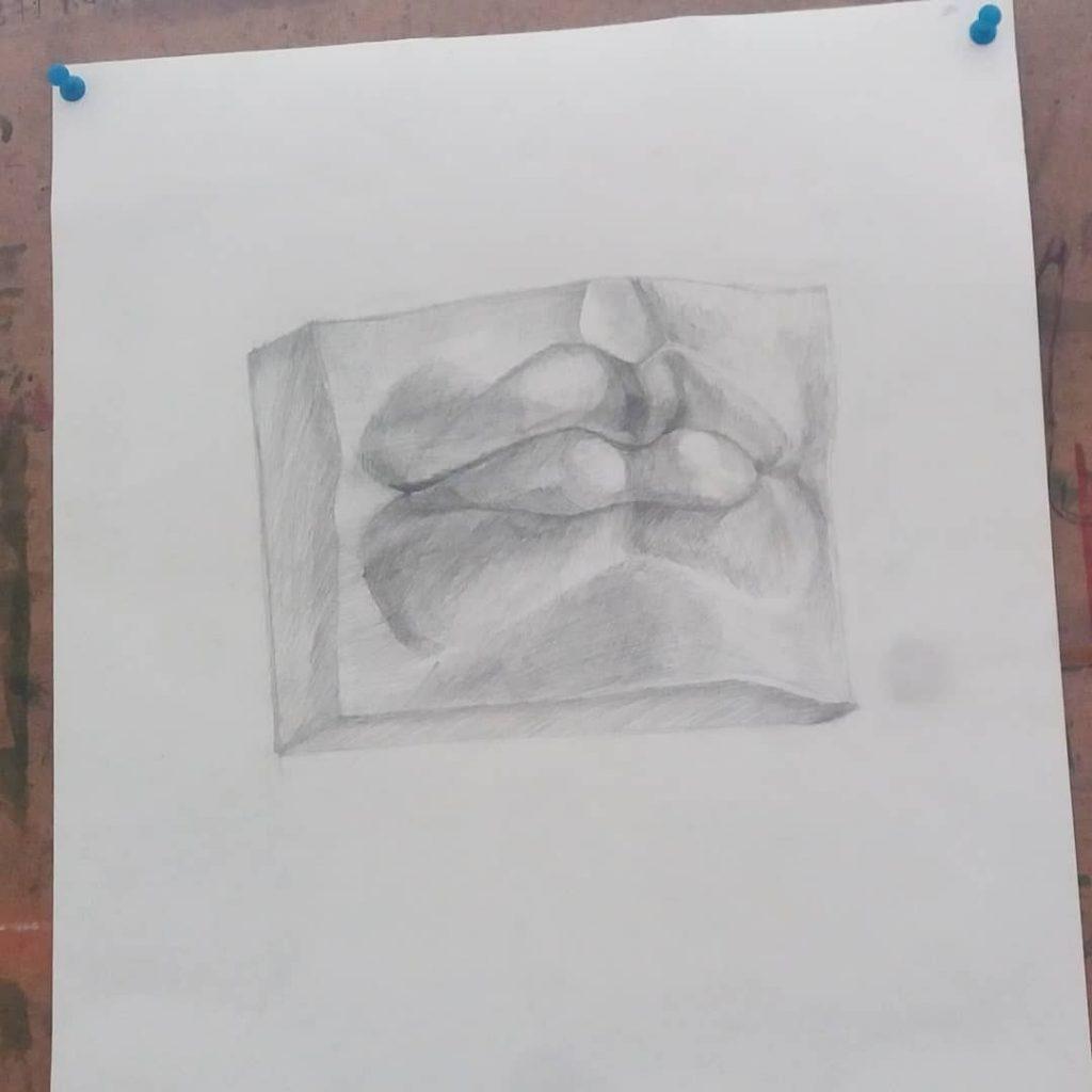 Микеланджело рисунки карандашом для детей001