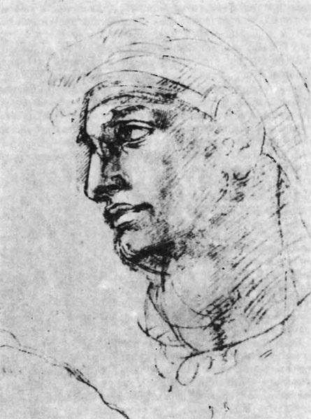 Микеланджело рисунки карандашом для детей003