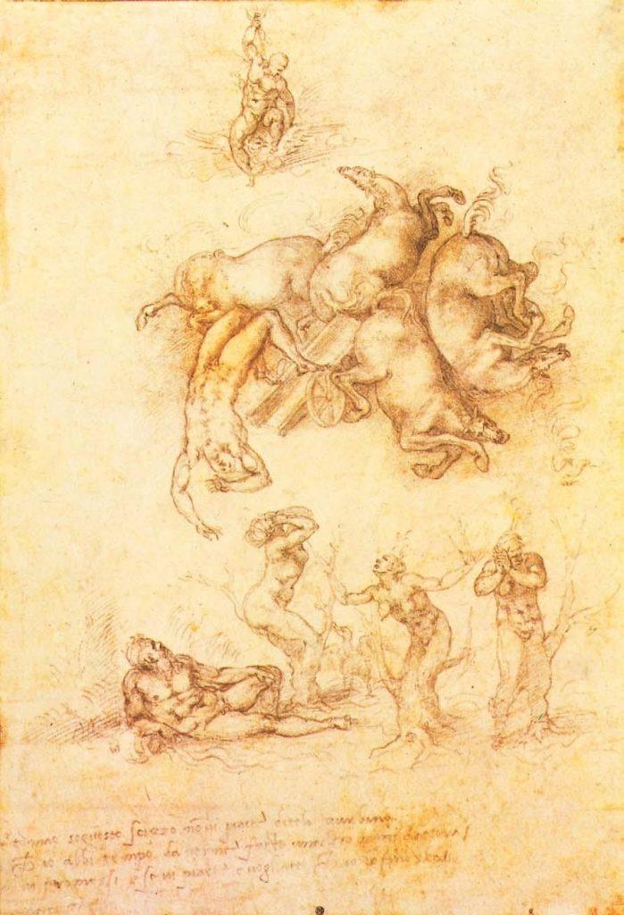 Микеланджело рисунки карандашом для детей004