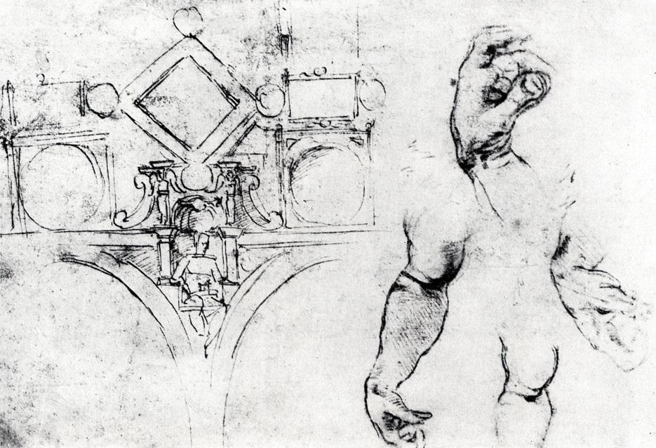 Микеланджело рисунки карандашом для детей011
