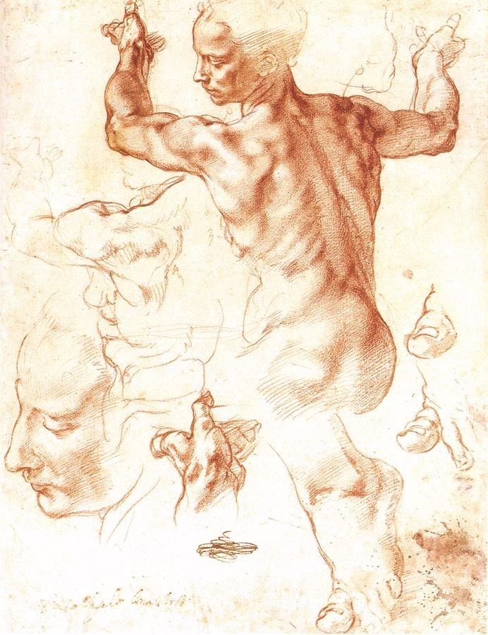 Микеланджело рисунки карандашом для детей021
