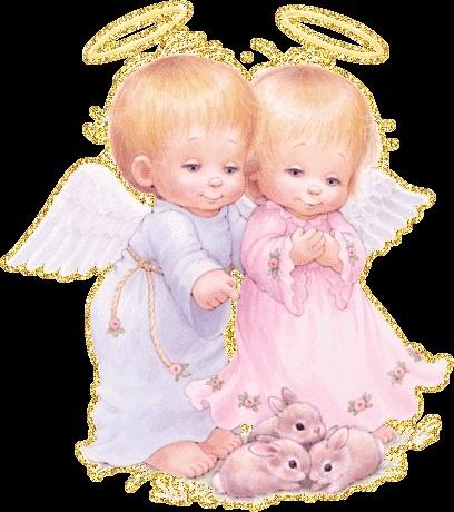Милые картинки ангелочков с сердечками010