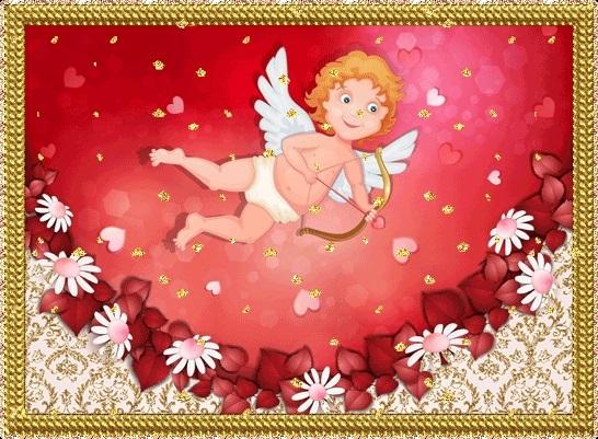 Милые картинки ангелочков с сердечками012