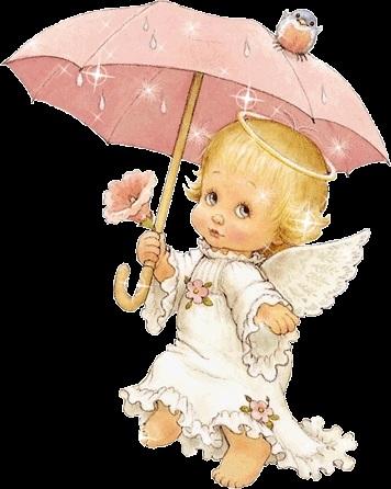 Милые картинки ангелочков с сердечками015