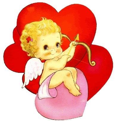 Милые картинки ангелочков с сердечками019